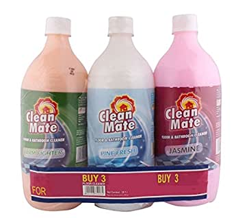 Clean Mate Floor and Bathroom Cleaner - Mixed, 3x1L Pack
