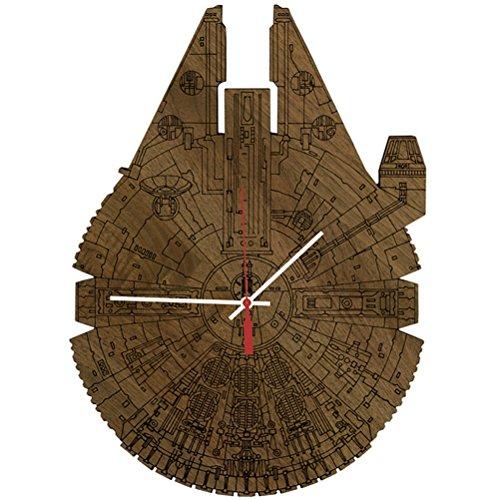 Actim Leise Quarz Wanduhr Krieg der Sterne Raumfahrzeug Wall Clock, Brown