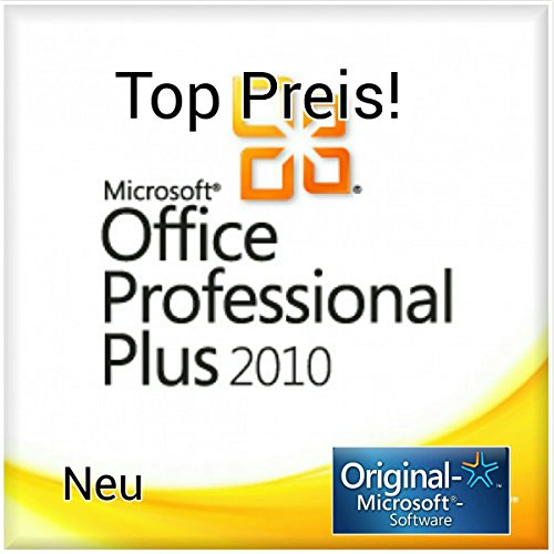 Microsoft Office Professional Plus 2010 Vollversion - 1PC MULTILANGUAGE (Product OEM Key ohne Datenträger inkl. Rechnung, Downloadlink) (Microsoft 2010 Office 64-bit)