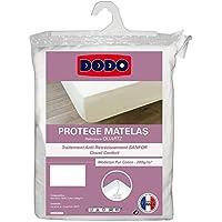 Dodo protège-matelas en molleton 100% coton forme drap housse traité anti-rétrécissement 160 x 200 cm