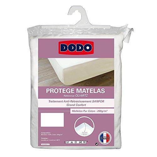 Dodo protège-matelas en molleton 100% coton forme drap housse traité anti-rétrécissement 160 x...