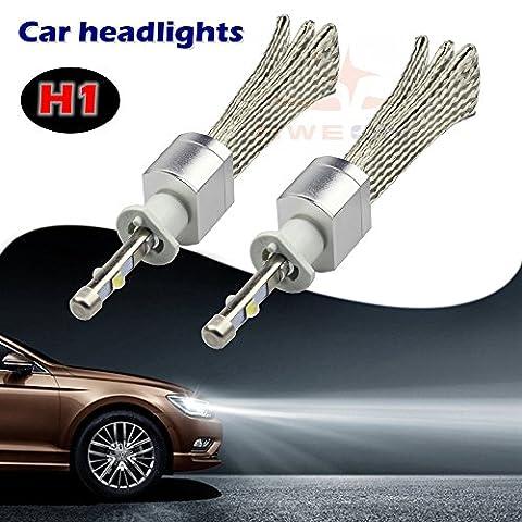 sweon H1Xénon 6000K blanc voiture Kit de conversion de Phare Lampe LED haute/faible faisceau ampoule CREE xhp-504800LM H3H4H7H11H1390039004900590069012