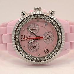 Aqua Master Ladies Ceramic Diamond Watch 1.25ctw W115
