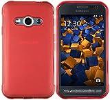 mumbi Schutzhülle Samsung Galaxy Xcover 3 Hülle transparent rot