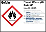 LEMAX® GHS-Etik.Ethanol 99% vergällt Sorte 642,gem.GefStoffV/GHS/CLP,105x74mm,8/Bogen