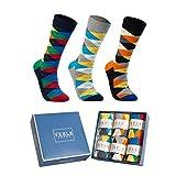 Vkele Socken (Kariert), 43-46, Bunt