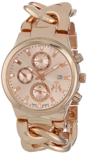 Jivago Women's Swiss Quartz Stainless Steel Casual Watch, Color:Rose Gold-Toned (Model: JV1224)