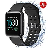 armo armo Smartwatch, Fitness Armband Tracker, Sportuhr mit Schrittzähler Pulsmesser Wasserdicht IP68, Voller Touch Screen Smart Watch für Android iOS