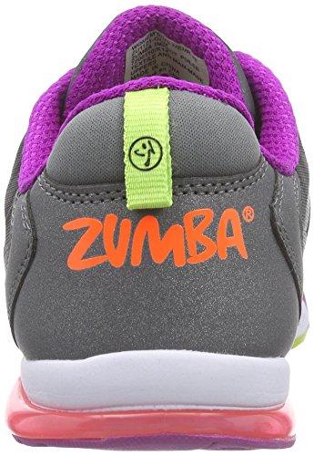 Zumba Footwear Zumba Impact Pulse, Damen Hallenschuhe, Grau (Graphite Camo), 40.5 EU -