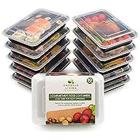 |10 pack| 1 fach Meal Prep Container. Frischhaltedosen Bento-Box Set mit Deckel. Spülmaschine, Mikrowelle, Gefrierschrank safe. BPA-frei Frishchalteboxen aus Kunststoff + eBook [1.1L]