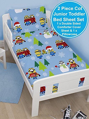 Despicable Me Minions Christmas Holidays Junior Duvet Cover Set – 120cm x 150cm