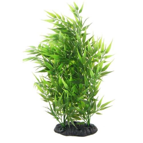 SODIALR Hierba artificial decorativa forma hojas bambu