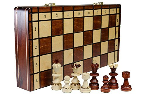 Wooden Magic PEARL DELUXE - 35cm/14 In Handarbeit aus Holz Schachspiel