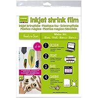 Vaessen Creative 1611-001 Schrumpffolie für Inkjet A 4, Plastic, weiß, 33.4 x 21.9 x 0.3 cm