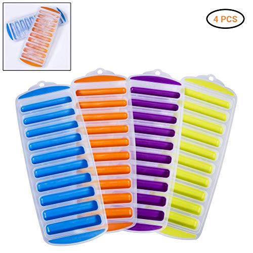 Mimiga vassoi per cubetti di ghiaccio in silicone easy push and pop out stampi per cubetti di ghiaccio borraccia per cubetti di ghiaccio per sport e bottiglie d'acqua 11x30cm