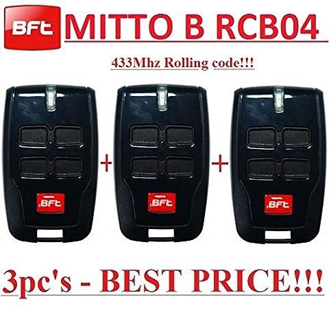 Telecommande Bft 02 - 3 X BFT Mitto B RCB04 R1