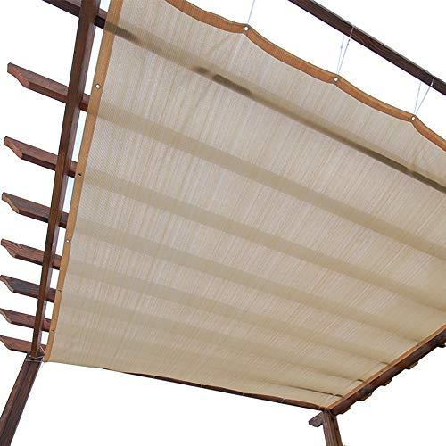 Sonnenschutznetz, Sichtschutz mit Ösen, 90{76ff02a70ed58aafab81a3226ecb71cb2510d12f30cb84d1f61a134227b742b3} Sonnenschutz - for Außenbereiche, Innenhöfe, Markisen, Fensterabdeckungen, Pergola oder Pavillons (Beige) (Size : 3m x 6m)