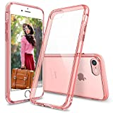 Custodia iPhone 7, Ringke [FUSION] Crystal Clear PC Ritornare TPU [Goccia di protezione / Shock tecnologia ad assorbimento] Cresciuto Protective Cover Bezels per Apple iPhone 7 2016 - Rose Gold Crystal