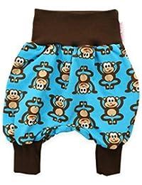 """bébé Pantalon bouffant """"Petit singe"""" Turquoise Sarouel Pantalon jersey Pantalon pour bébé de petit 3 rois mages"""