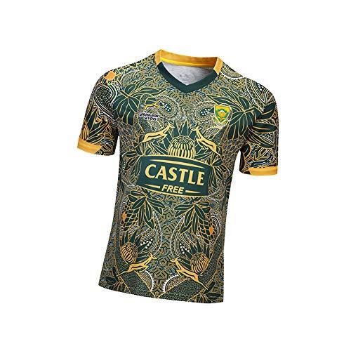 Herren Rugby-Fan-Bekleidung, Game-Training, atmungsaktiver Komfort, Fan-Trikot, Australian National Team Supporter T-Shirt (S-XXXL) Gr. S, Farbe
