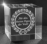 VIP-LASER 3D Glaskristall XL Würfel mit Text