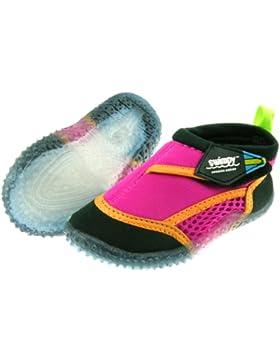 Swimpy UV Pink/Orange/Black 22-23 EU Beach - Escarpines para niña, color rosa, talla DE: 22-23 EU
