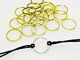 INWARIA Verbinder Herz Stern Viereck Kreis Metall Verschluss Anhänger Zwischenteile (Kreis - 10 Stück)