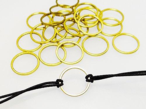 INWARIA Verbinder Herz Stern Viereck Kreis Metall Verschluss Anhänger Zwischenteile (Kreis - 50 Stück)