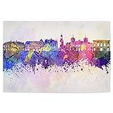 artboxONE Poster 90x60 cm Aalborg Skyline in Watercolor von