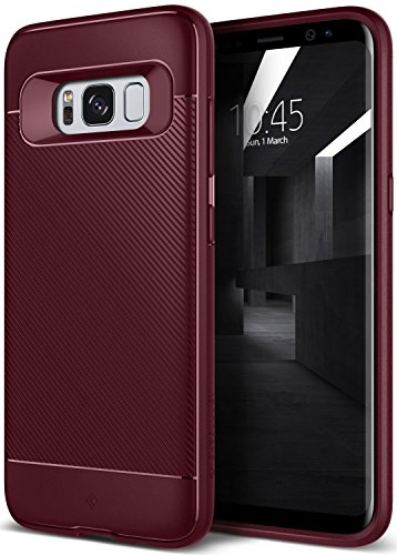 Galaxy S8 Plus Case, Caseology [Vault II Series] Flexible TPU Drop Protection Tactile Grip [Burgundy] [Flex Armor] for Samsung Galaxy S8+ Plus (2017)