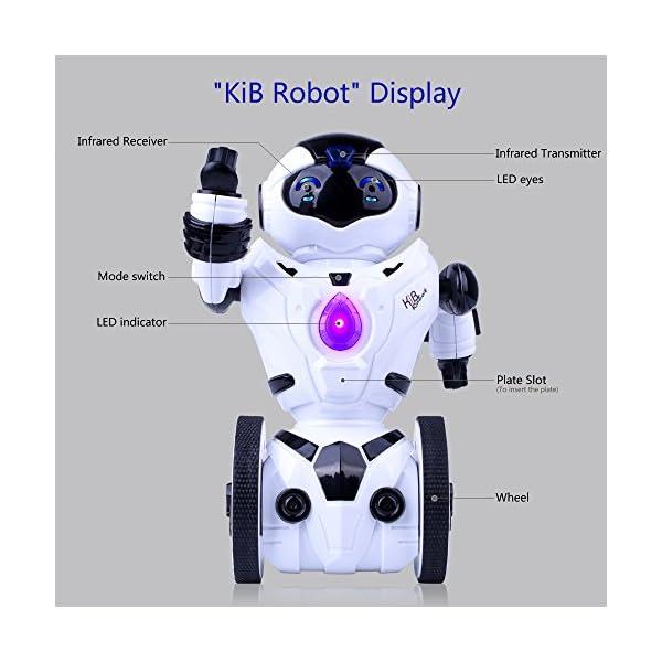 511umgcGHdL. SS600  - Kuman Robot Multifuncional de Control Remoto para Niños 2,4 GHz, Mini Robot Electrónico, 5 Modos de Funcionamiento, Baile, Boxeo, Conducir, Cargar, Detección de Gestos, Súper divertido Robot RC 1016A