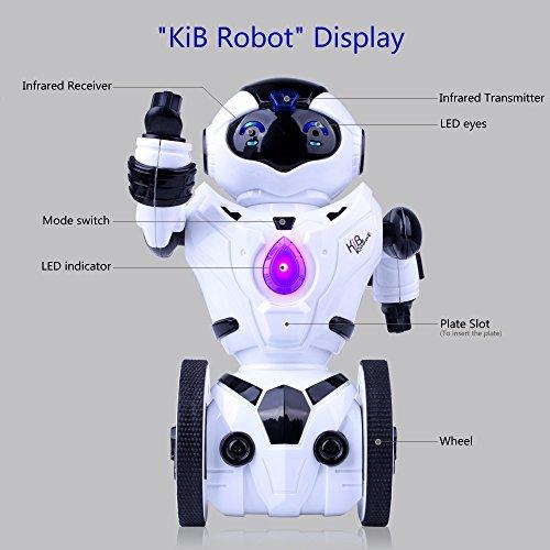511umgcGHdL - Kuman Robot Multifuncional de Control Remoto para Niños 2,4 GHz, Mini Robot Electrónico, 5 Modos de Funcionamiento, Baile, Boxeo, Conducir, Cargar, Detección de Gestos, Súper divertido Robot RC 1016A