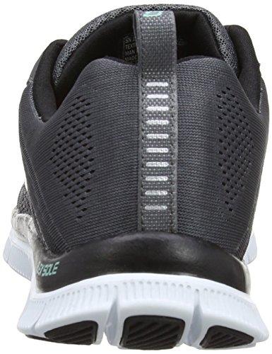 Skechers Flex Appealsweet Spot, Sneakers Basses Femme Gris (Ccbk)