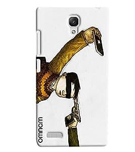 Omnam Boy Taking Selfie On Gun Printed Designer Back Cover Case For Xiaomi Redmi Note Prime