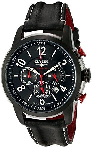 Elysee 80524L - Orologio da polso, uomo, pelle, colore: nero