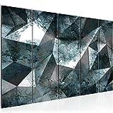 Bilder 3D Effekt Wandbild 200 x 80 cm Vlies - Leinwand Bild XXL Format Wandbilder Wohnzimmer Wohnung Deko Kunstdrucke Blau 5 Teilig -100% MADE IN GERMANY - Fertig zum Aufhängen 506555b