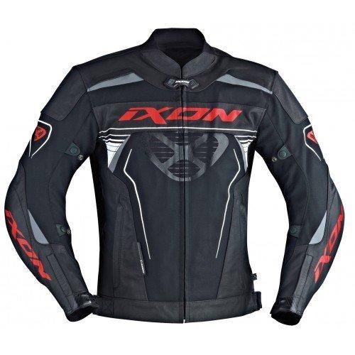 Preisvergleich Produktbild Ixon Motorradjacke - Frantic,  Noir / Rouge,  Größe 3XL