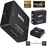 Microware AV / RCA to HDMI Video Audio Converter Adapter Supporting PAL/NTSC with USB Charge Cable for PC Laptop Xbox PS4 PS3 TV STB VHS VCR Camera DVD