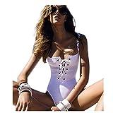 Damen Bademode Odejoy Sexy Frauen Bikini Sets Reine Farbe Badeanzug Versuchung Bademode Komfortabler und Atmungsaktiver Push up Bikini (S, Weiß)