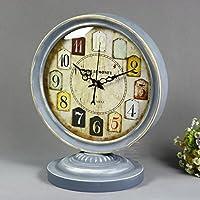 Retro Style rurale di stile europeo di legno solido l'orologio Sweep secondi Movimento Muto legno Orologio a pendolo