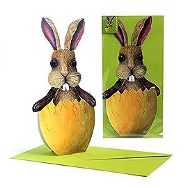 Design moderno e divertente fine ed esclusivo dall/'Editor/'s Collection di ArtUp. Bigliettini di Pasqua con coniglio pasquale Nel set 10 augurini di Pasqua con 5/motivi