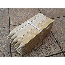 """20unidades 15""""(300mm) tratado sitio piquetas estacas de madera clavijas de puestos"""