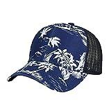 LiucheHD Cappello Hip-Hop,Moda unisex baseball con stampa fiori colorati regolabile Cappelli estivi ricamati cappello maglia per uomini donne casual cotone Berretto Snapback (Marina, Taglia unica)