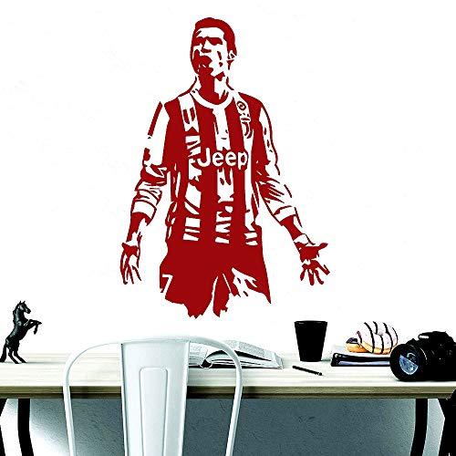 Serie A FC Juventus Superstar CR7 Fußballspieler Vinyl Wandaufkleber Kunst Wandtattoos Für Jungen Room Home Decoration 43 * 61 cm