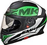 Best Dual Sport Helmet - SMK Helmets - Twister - Logo White Green Review