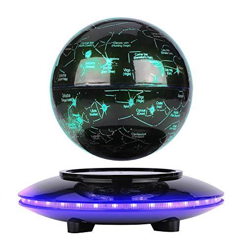 Constelación Flotante de Levitación Magnética con LED, Globo de Antigravedad sin Nada de Soporte, Mapa de Constelación Rotativo para Decoración y Regalo(Negro)