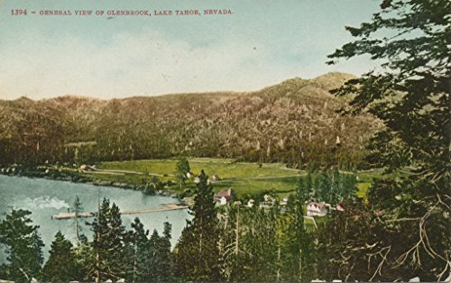 POSTER General view of Glenbrook Lake Tahoe Nevada collection postcards id... Historic sites parks Lakes and ponds Miami Wall Art Print A3 replica