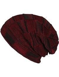 WinCret Cappello Invernale con Fodera in Pile Molto Morbida Warm Berretti  in Maglia con Modello a b29c2c7bebcf