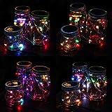 6 Pack Solar Einmachglas Lighterkette, 10 LED Lichterkette Märchen Glühwürmchen Lampen Deckel, geeignet für Dosen mit konventionellem Kaliber, Einmachgläser, vor allem für Hof-, Rasen- und Garten-Dekoration verwendet