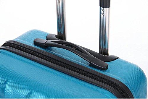 Xiuxiandianju 20 pollici 24 pollici 28 pollici girevole leva ABS chiusura fibbia usura impermeabile per il tempo libero viaggio valigia diverse SuitcaseColour & taglia (36-55L) Blue